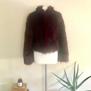 Tyber Red Faux Fur Jacket